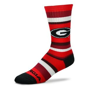 Georgia Bulldogs Rainbow Stripe Crew Socks