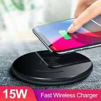 15W Fast Wireless Charger Charge Pad For iPhone Huawei P30 Pro Samsung S10 Plus