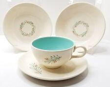 Homer Laughlin FORTUNE Vintage Cup Saucer Bowls