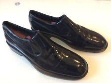 Giorgio Armani Mens Black Patent Leather Slip On Loafers size 10 $92.00