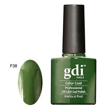 GDI Nails UK Best Classic Soak off Salon Quality Shellac UV LED GEL Nail Polish F38 - Poison Ivy