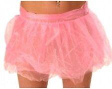 Womens Tutu Skirt Dress Wrap Round Mini Short in Pink