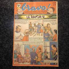 Hebdomadaire Bravo - Troisième Année No. 7  -  Rayon U - Edgar P. Jacobs