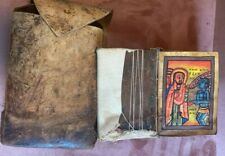 Antique Ethiopian Coptic Christian Manuscript Hand Written in Ge'ez Vellum