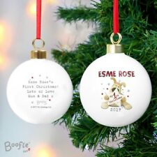 Personalised Boofle 'My 1st Christmas' Bauble