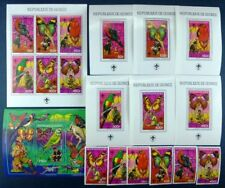 Schmetterlinge 1988 Guinea Pfadfinder Vögel 1208-1213 + KLB + Block 305-311/265
