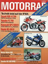 4568M Motorrad 1984 20/84 Moto Guzzi 1000 SP Yamaha RD350 YPVS Hesco Rotax 500