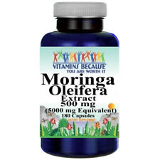Moringa Oleifera Extract 5000mg - 180 capsules by Vitamins Because