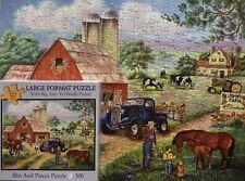 """JOHN'S FARM - 300 LARGE PIECE PUZZLE - BITS & PIECES - SIZE 18"""" X 24"""" COMPLETE"""