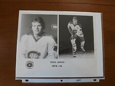 Doug Jarvis 8 X 10 Glossy. Newspaper Stock Photo 1975-76 Canadiens