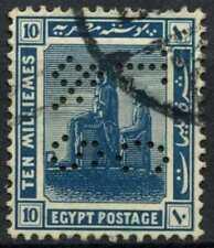 """Egypt 1921-2 SG#92, 10m Blue, """"TC&S"""" Used #D90702"""