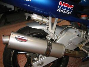 Honda CBR 600 FM-FW 90-97 Titanium round ROAD LEGAL Motorbike Exhaust Can