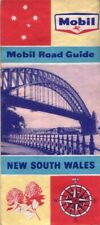 Mobil Road Guide New South Wales MAP Road Travel 1960s