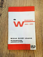 More details for wigan 1972 supporters' association centenary rugby league brochure