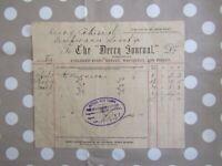 Irish antique old Receipt document - Londonderry 1901 - Derry Journal