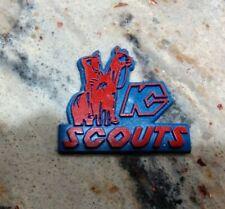 KANSAS CITY SCOUTS Vtg 1970's RED BLUE NHL RUBBER Hockey FRIDGE MAGNET