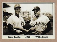 Ernie Banks & Willie Mays '58, Monarch Corona Immortals #8, nm-mint cond.