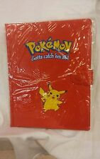 Pokemon Red Binder album 4 Pocket 1999 Pikachu NIP Original RARE