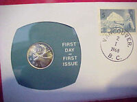 1968 #89 99 COMPANY FIRST DAY FIRST ISSUED CANADIAN SILVER 25 CENT CARIBOU