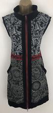 Joe Browns Dress Black Red Tunic Zip Up Sleeveless Gilet Style Size 18
