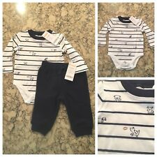 Gymboree Boy's Two Piece Outfit, Top Shirt Bottoms Pants, 3-6 mos., NWT
