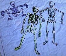 Vintage Halloween Skeleton Jointed Decorations Lot Beistle