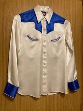 New listing Vintage Fenton brand c60's womens long sleeve western shirt + pearl snaps Usa
