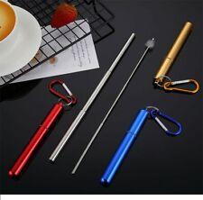 Reusable Stainless Steel Telescopic Straws portable Set