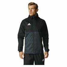 Adidas Mens Tiro 17 Rain Jacket Training Hooded Sports Top Coat Black Grey S M L
