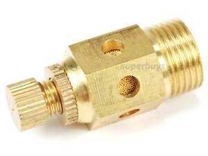 """3/8"""" Reinforced Pneumatic Adjustable Brass Silencer Muffler Exhaust Air Valve"""