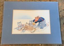 """Rie Munoz 1984 """"TANGLED TRACES"""" Reproduced Art Print Framed"""