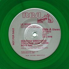 LE ROUX Seasons Greetings (1982 U.S. 4 Track Green Vinyl Promo 7inch)