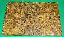 36 x 60 Inches Marble Dining Table Top Mosaic Work Tiger Eye Stone Hallway Table