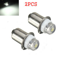 2X P13.5S 0.5W LED Upgrade Bulb Flashlight Torches Light Work Light C D Cell 3V