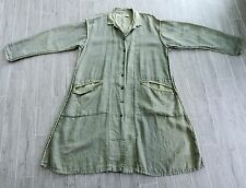 Cynthia Ashby Light Green Linen & Silk Lagenlook Art To Wear Jacket Duster Coat
