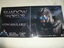 LARGE PS4 XBOX 360 ONE PS3 PC MIDDLE EARTH SHADOW OF MORDOR PLASTIC PROMO SIGN