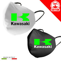 Mascherina Mascherine Personalizzata Kawasaki moto 100% Cotone adulto bambino