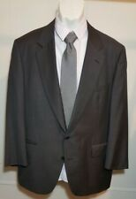 Carroll & Co England Chester Barrie Mens 46R Wool 2 Button Suit Jacket Pinstripe