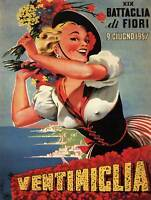 ADVERT EXHIBITION CULTURAL FLOWERS VENTIMIGLIA ITALY POSTER PRINT BB2258B