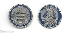 SAINT CHRISTOPHER PROTECT US PRAYER  CHALLENGE COIN