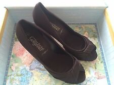 Black Twisted Detailed Front Open Toe Court Shoes Size 5
