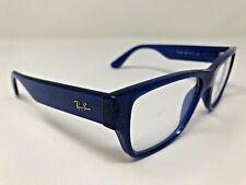 Ray Ban RB7028 5393 Eyeglasses Frame 53-17-145 Blue Translucent Full Rim BT13