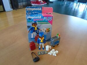 Playmobil 4761 complete special flight attendant stewardess service car airplane