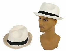 Unisex Herren Damen Hut Strand Cap Sommer One Size Eddy Polyester creme-weiß