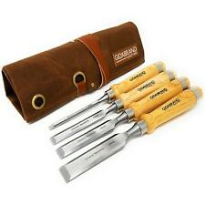 Wood Chisel Set with Tools Roll Bag – Carving & Woodworking Crv 6,13,18, 24 mm.