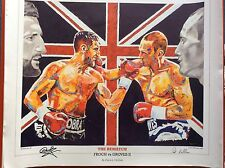 Carl Froch signé ~ Froch V Groves 2 Art Imprimé Par Patrick J. Killian
