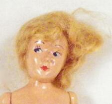Vintage Hard Plastic Doll Blonde Mohair Wig Painted Eyes 1950s Name & Maker Help