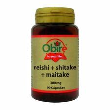 Reishi Plus Shitake Maitake 300 mg. 90 Capsulas. Obire / colesterol Ob4085