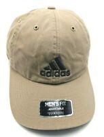 ADIDAS CLIMALITE brown adjustable cap / hat - 100% cotton; Men's fit