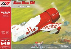 A&A Models 4807 - 1/48 Gee Bee R1 (1933 release) scale model aircraft kit